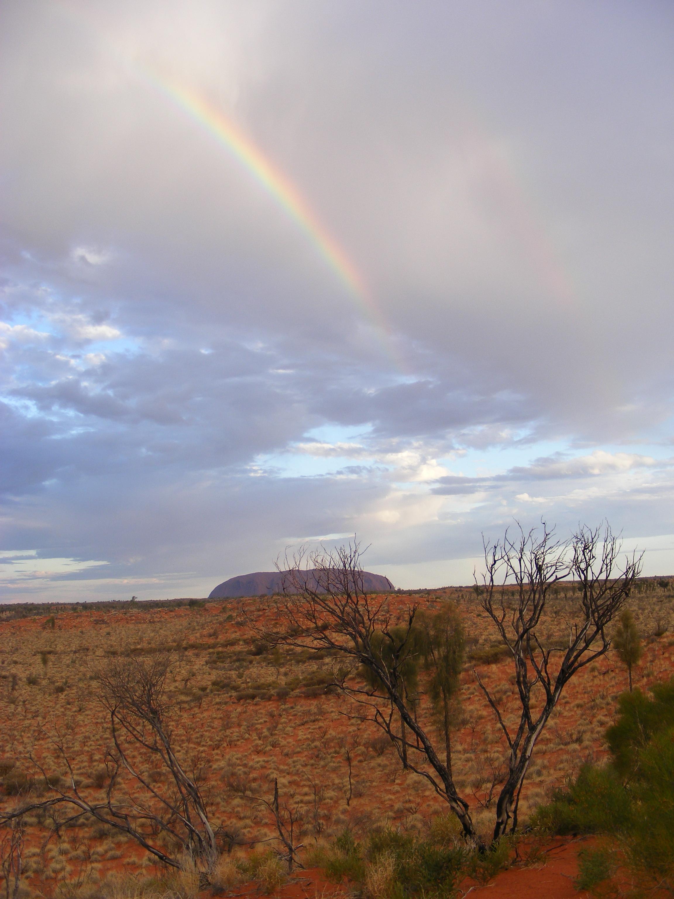 Rainbow over Ayers Rock
