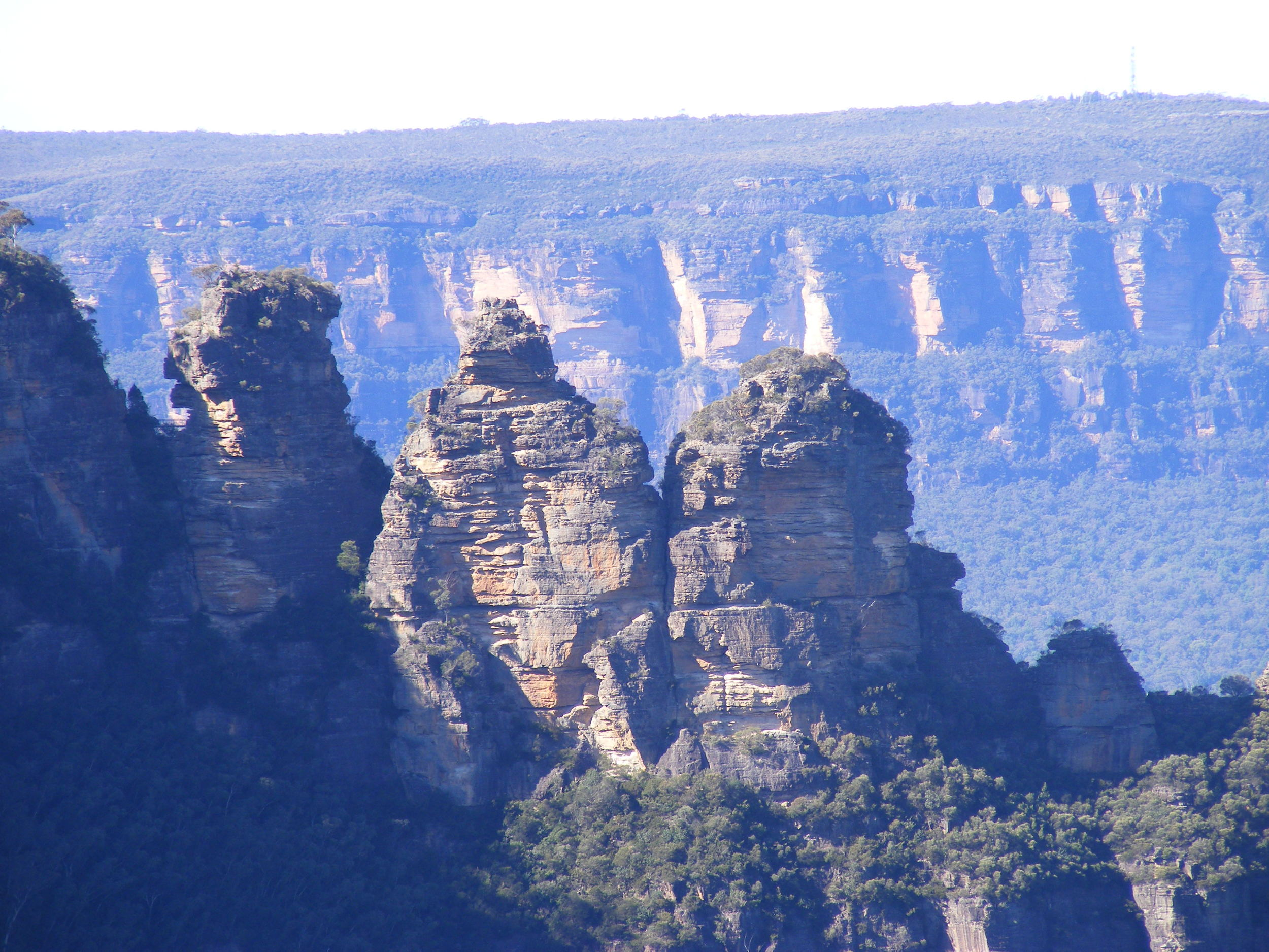 "The ""Three Sisters"" rock formation"