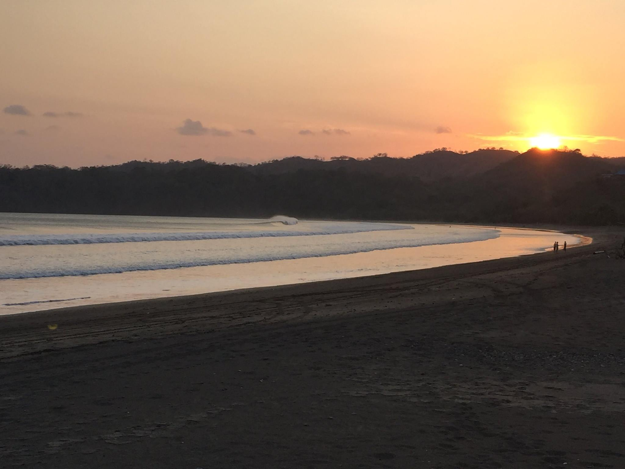 Sunset down the beach near the cove. Amber waves appeared virtually every night.
