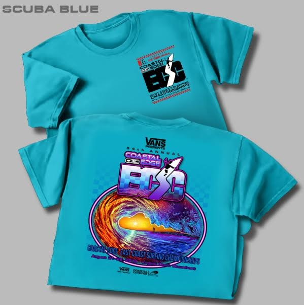The official ECSC T Shirt for 2016! As you can see, the colors were dramatically altered and the jetty and No. 4 channel marker were added very subtly to the horizon. It turned out well!