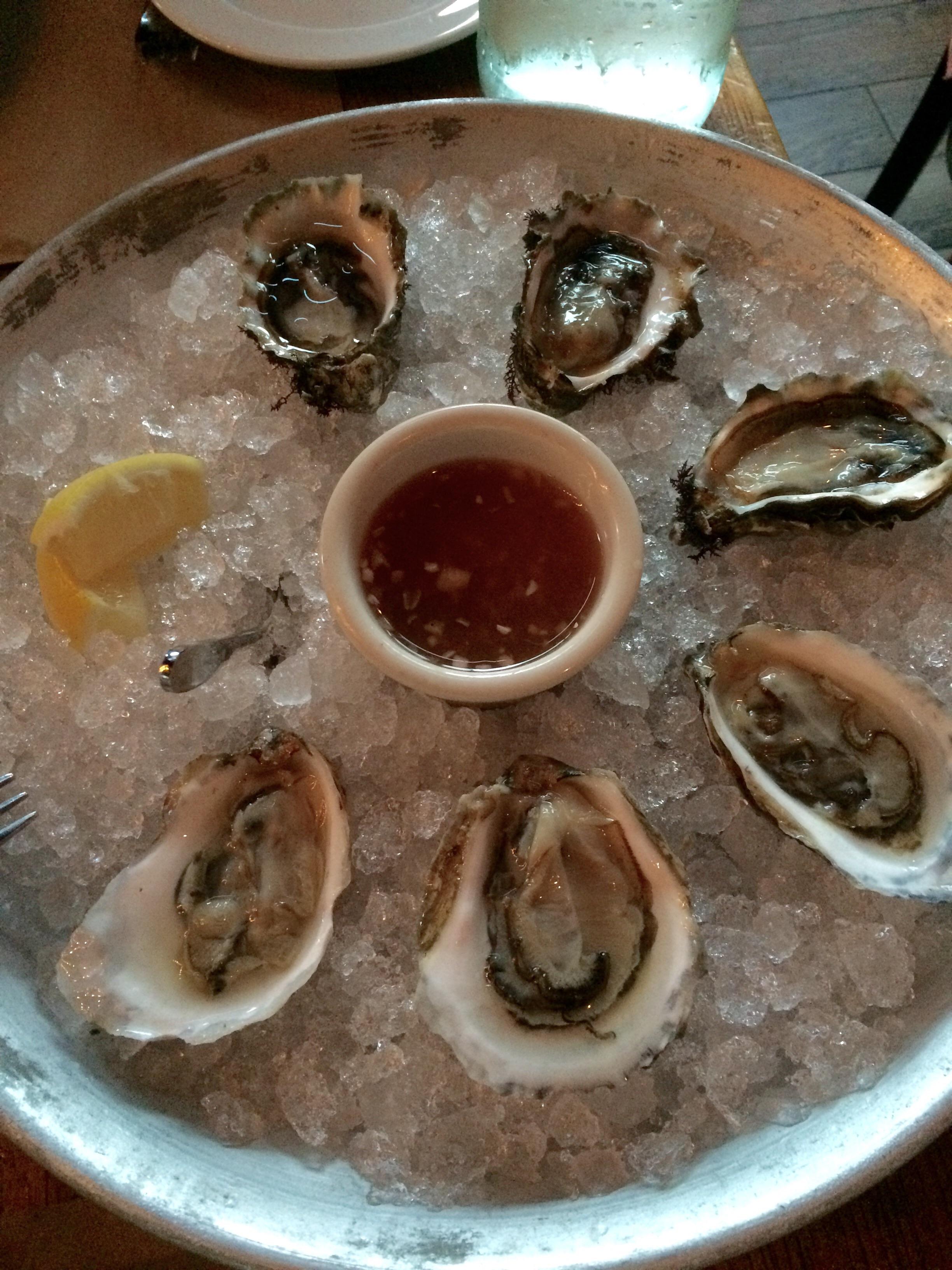 Publican oysters + hama hama.