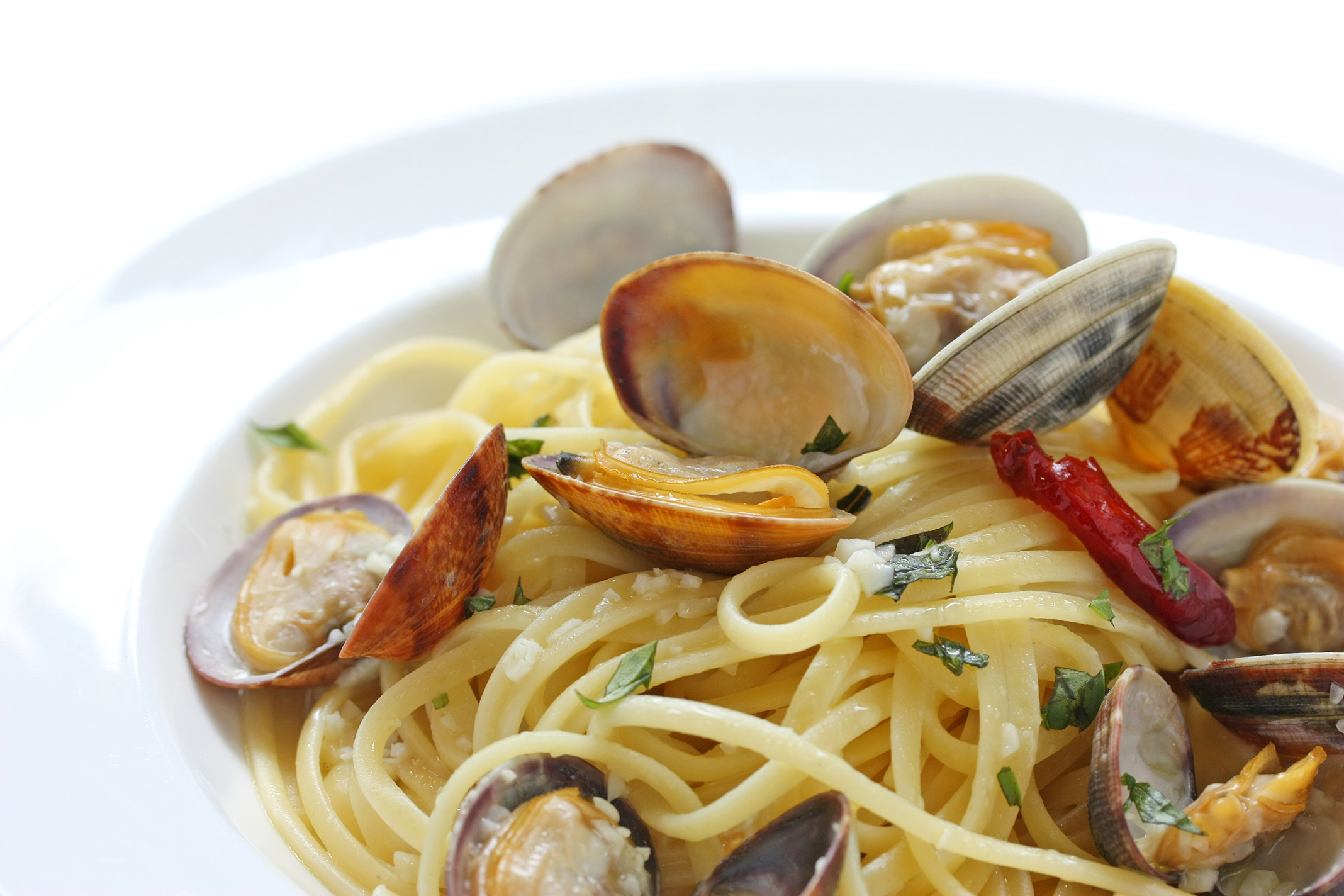 pasta and shellfish