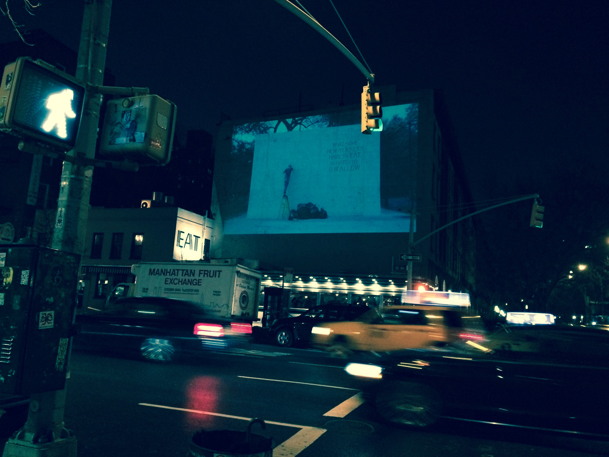 Wall Projections | Chelsea, Upper West side, Midtown and SOHO