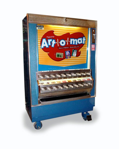 What is Art-O-Mat?Click here to learn about becoming an Art-O-Mat artist or get a machine for your business -
