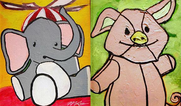 ARTxLOVE_stuffedanimals_elephant_pig.jpg