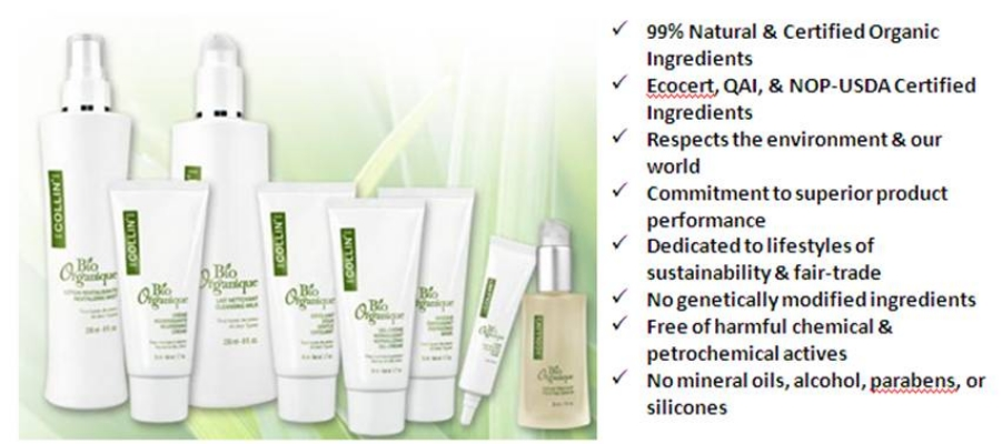 GM Collin Bio Organique Skincare Line