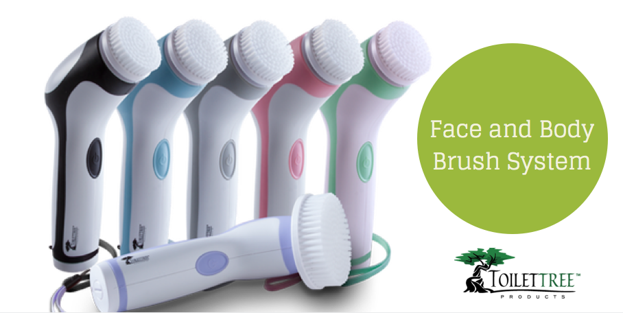 Toilet Tree Face and Body Brush System