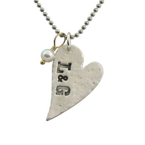 Isabelle Grace Jewelry Distressed Heart Necklace