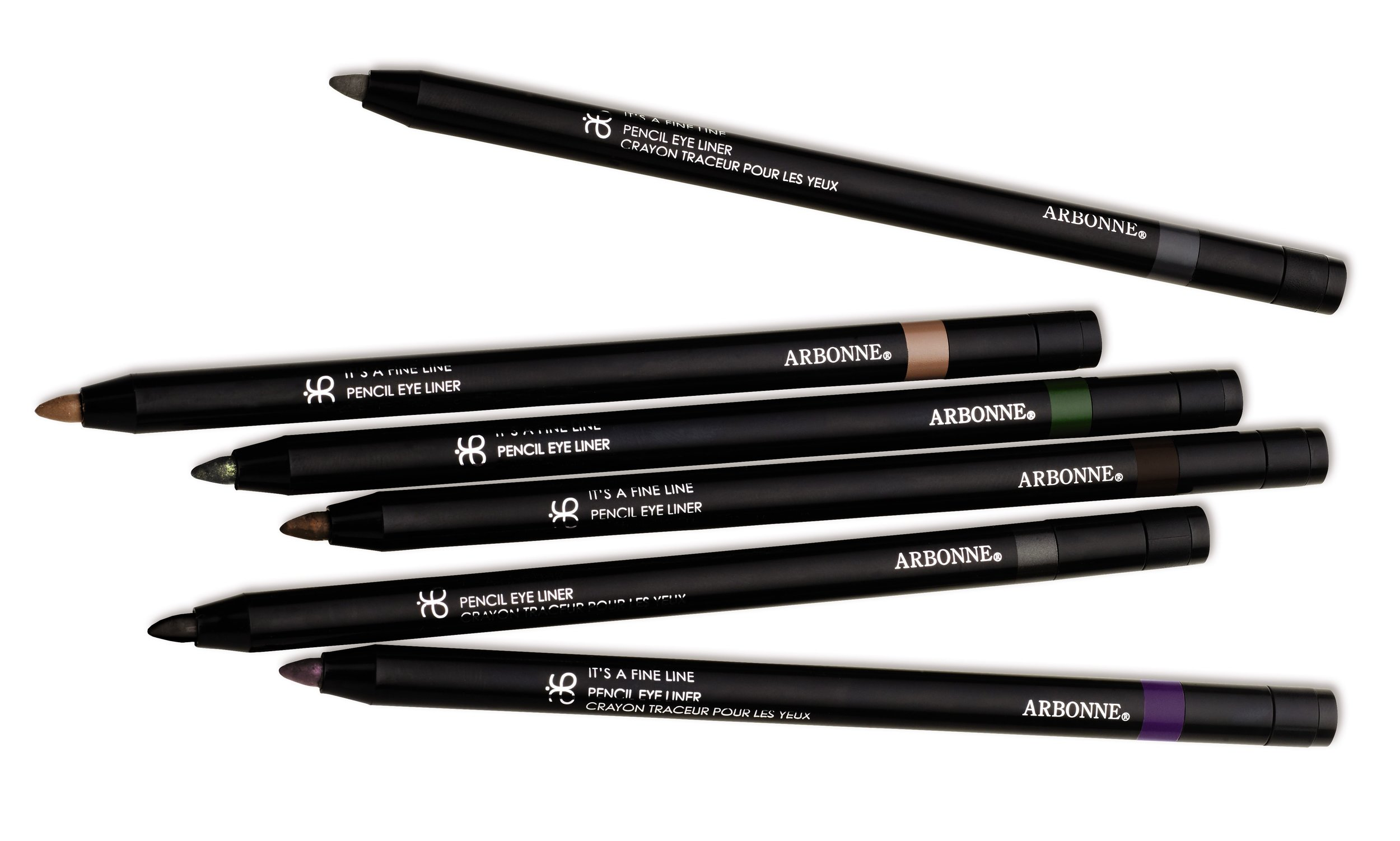 NEW Arbonne Cosmetics It's A Fine Pencil Eye Liner - Group Shot.jpg