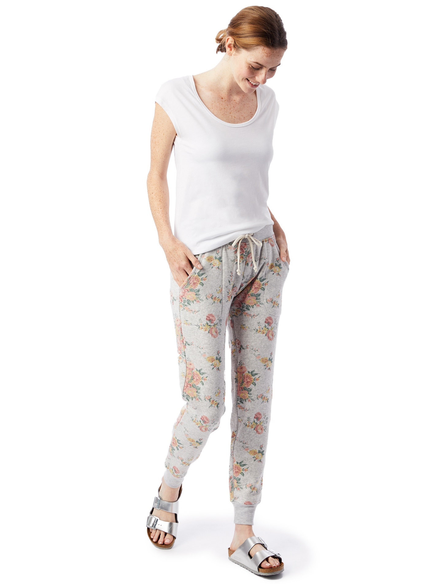 Printed Eco-Fleece Jogger Pants in Eco Light Grey Country Floral (2).jpg