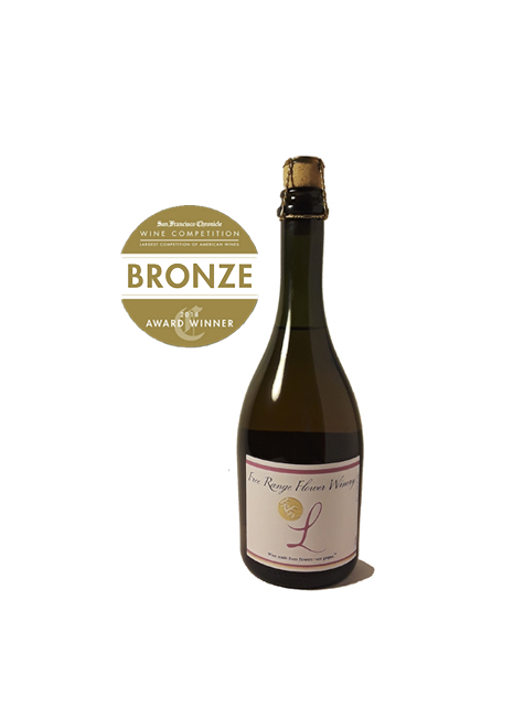 Free Range Flower Winery Sparkling Lavender Wine 2019 San Francisco Chronicle Wine Competition Award Winner small new3.png