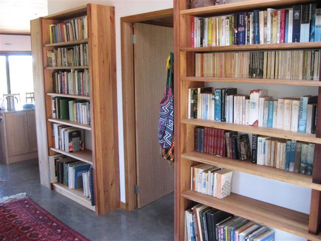 Recycled Ash Bookshelves