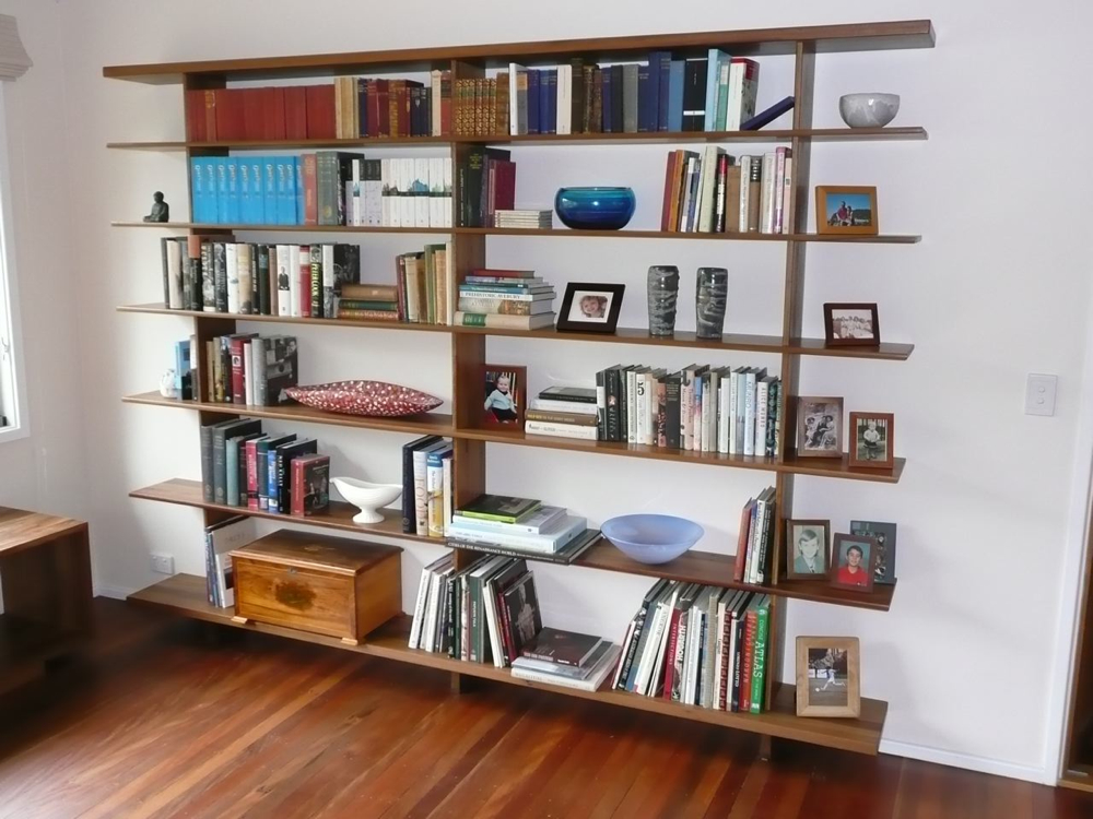 Shelves in Recycled Spotted Gum