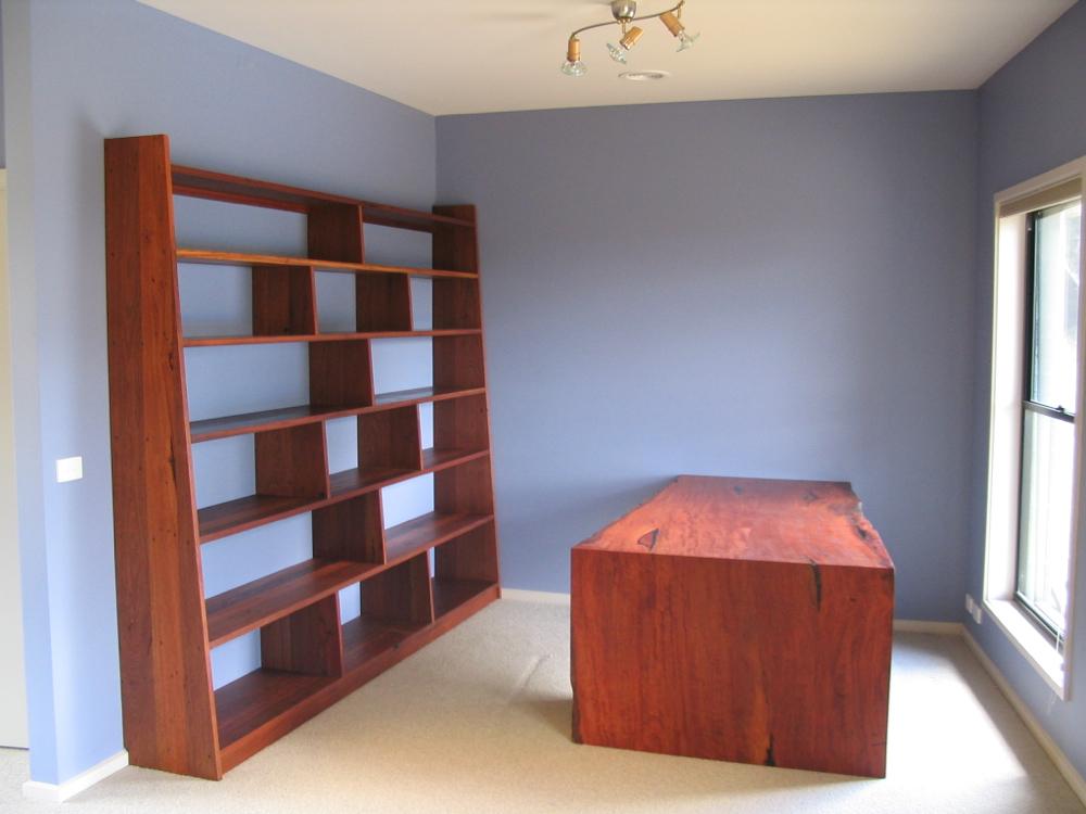 Bookshelf in Recycled Red Hardwoods
