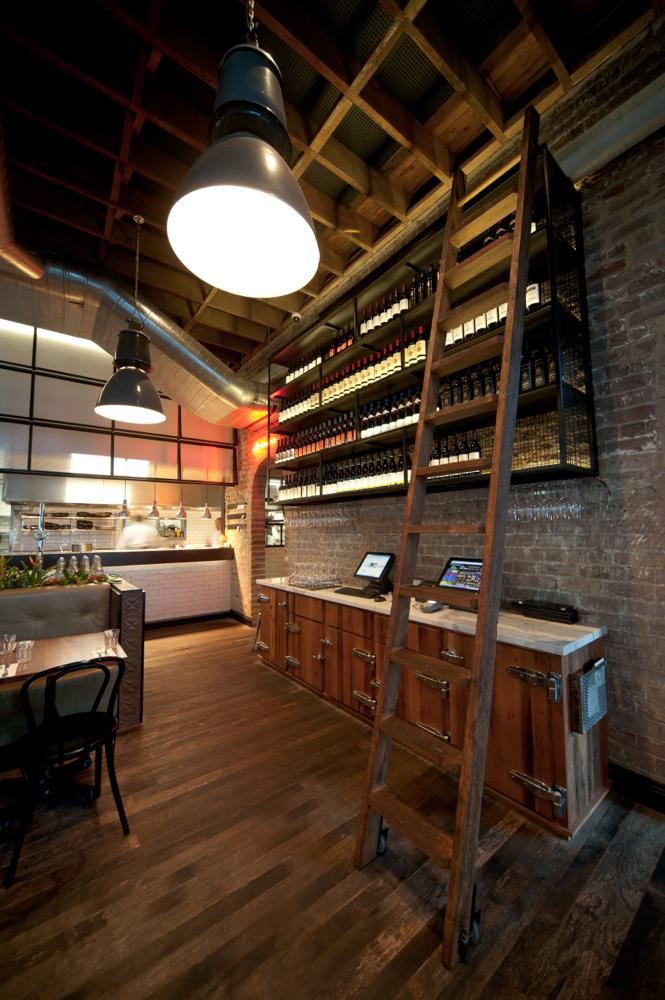 Ladder & Wine Storage