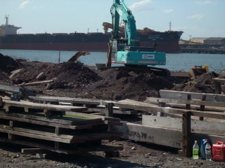 The bar timbers came from the Mayfield Coal Wharf demolition