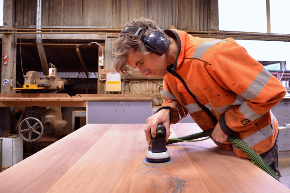Fine Sanding the Table Top