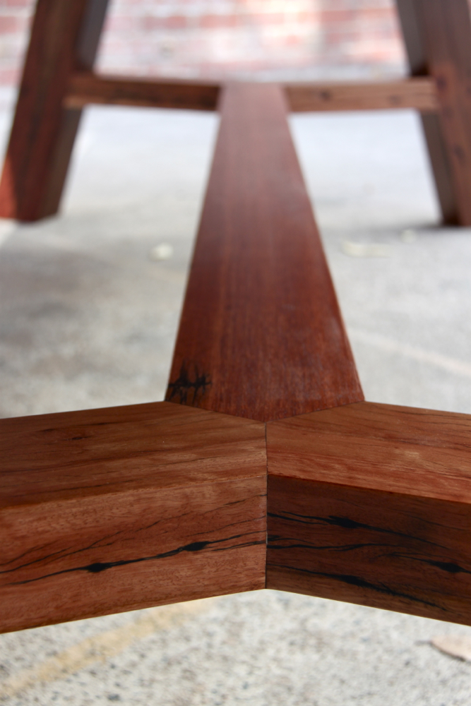 Studio Thunk Table hand crafted at Thor's Hammer   using hardwood   salvaged from Sydney house demolitions.