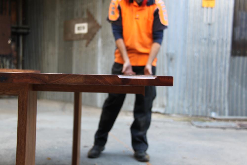 Folding leaf table custom built for Amelia Witheridge