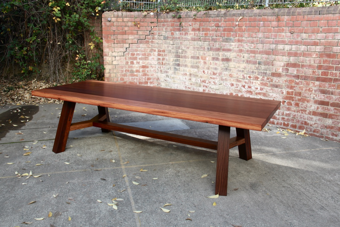 'Studio Thunk' designed table constructed using mixed red Australian hardwoods, as always built to last using some creative joinery!