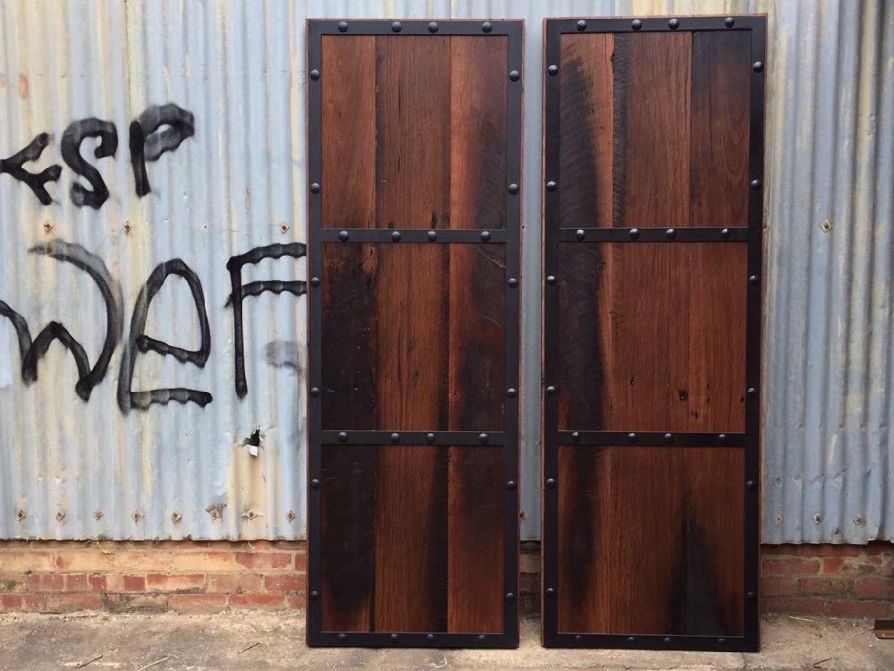 Rustic Blackbutt Double Doors