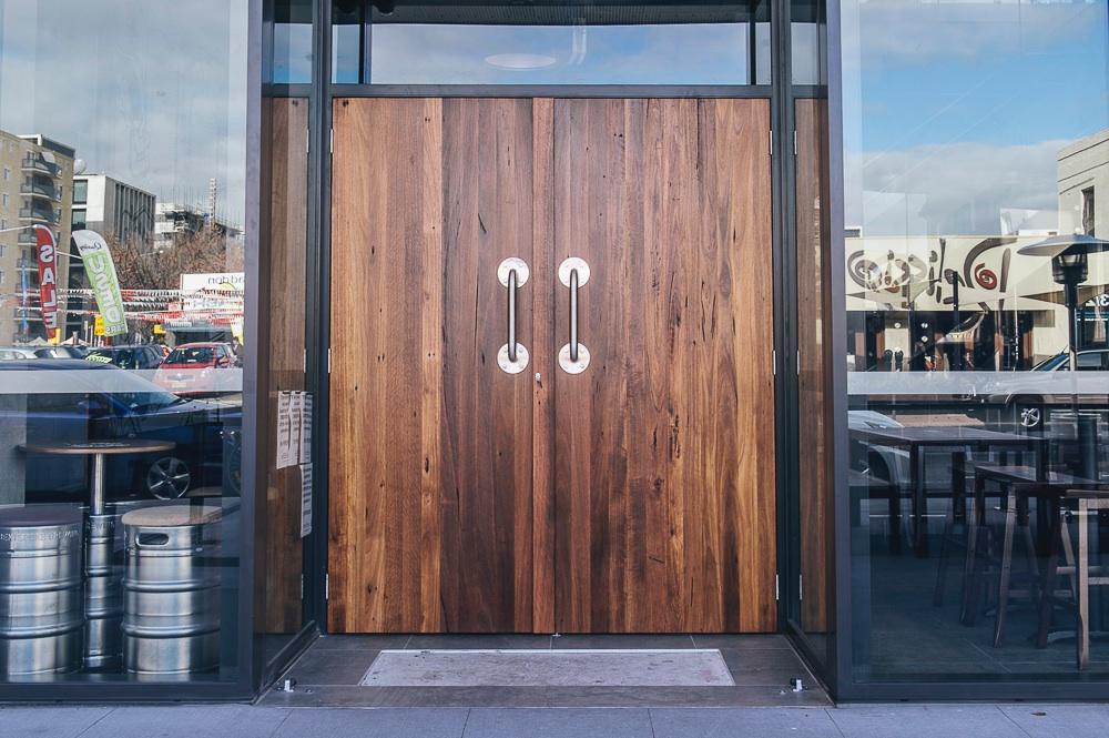 Vertically Clad Door