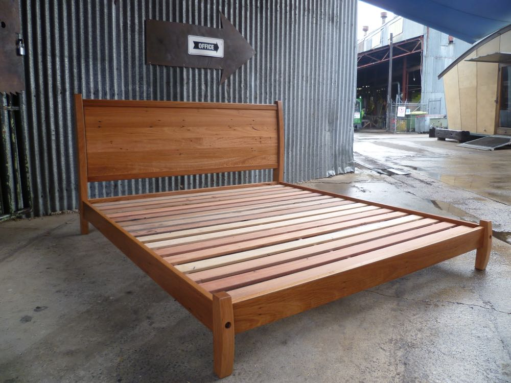 Curved Head Blackbutt Bed.