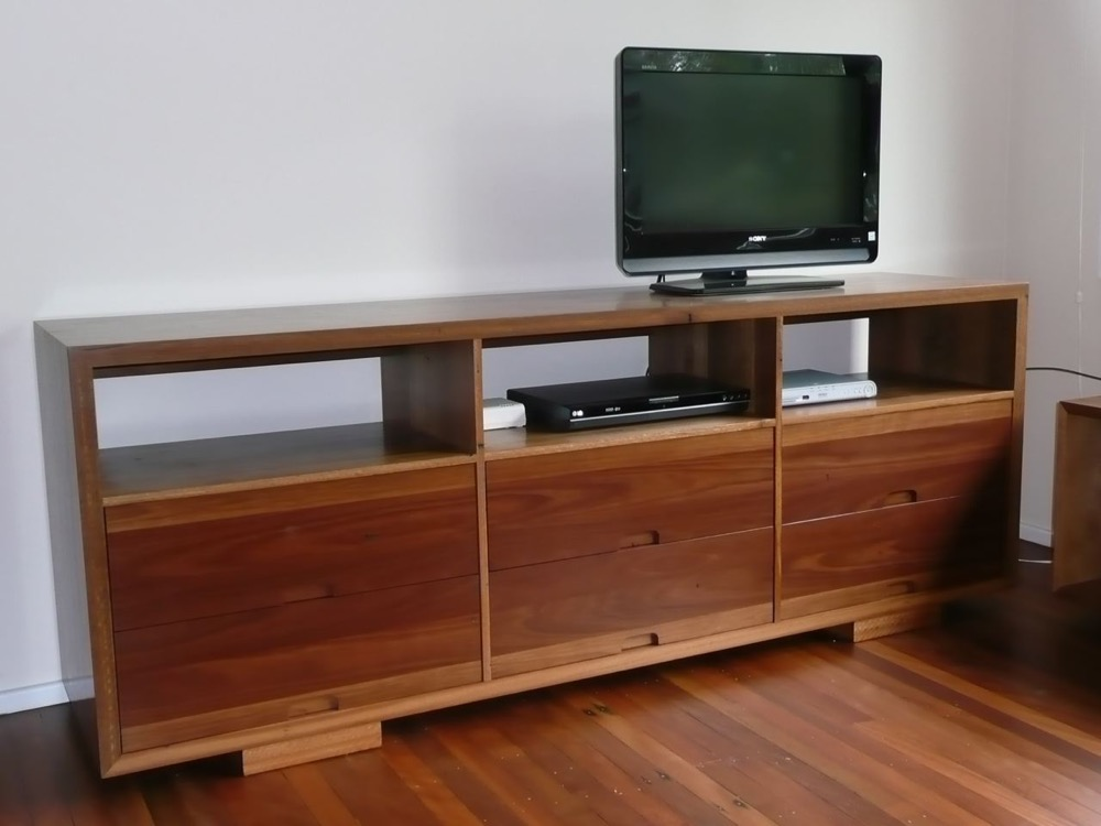 Spotted Gum Entertainment Unit.
