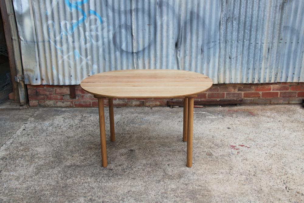 American Oak Dowel Leg Table