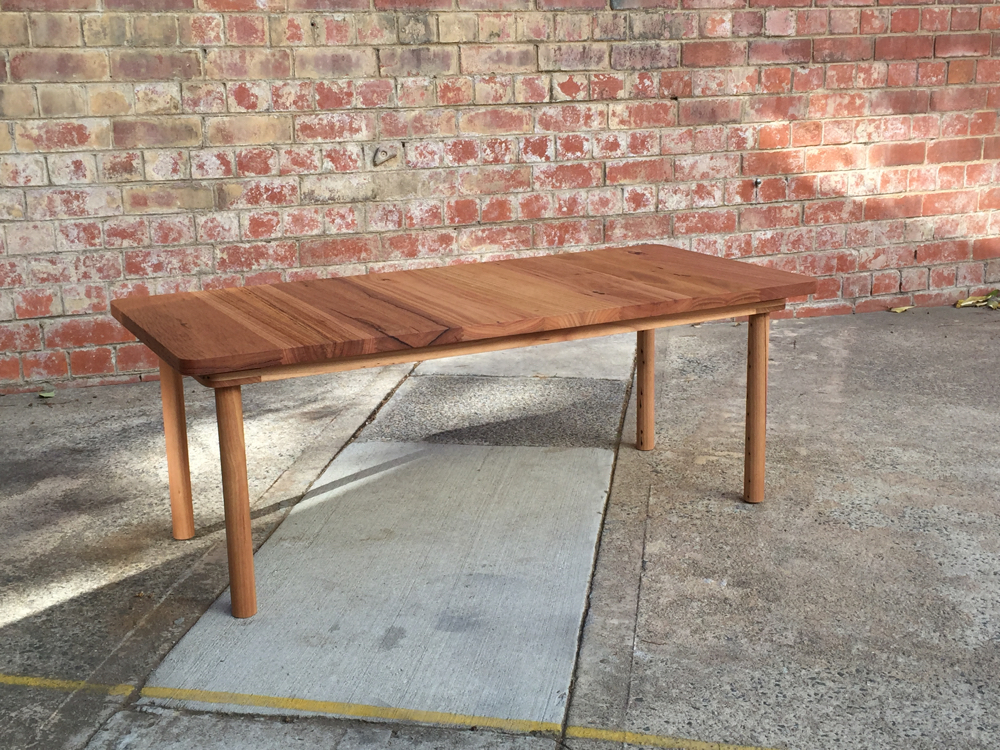 Recycled Ash dowel leg low table