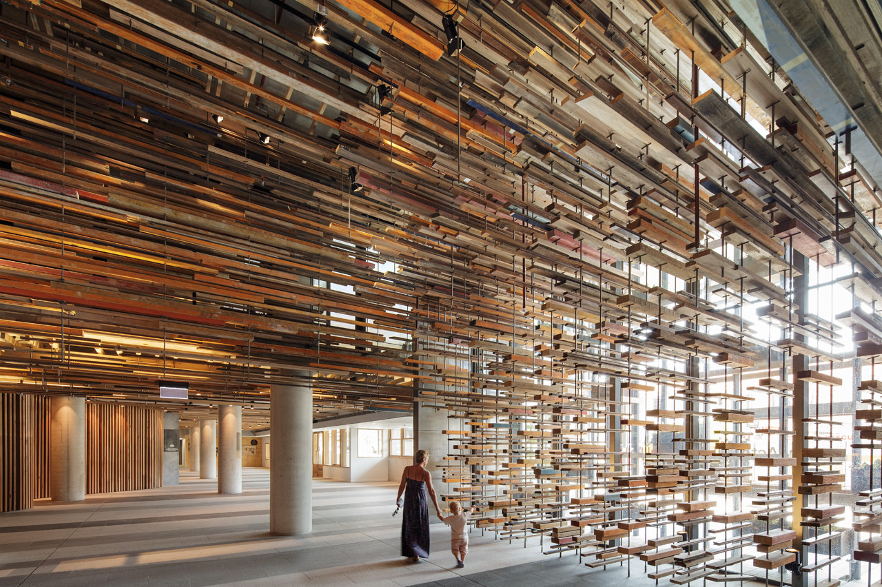 Recycled timber in Hotel Hotel designed by  March Studio and commissioned by  Molonglo Group.
