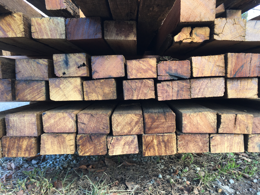 Recycled hardwood roof battens - great for slatted screens.