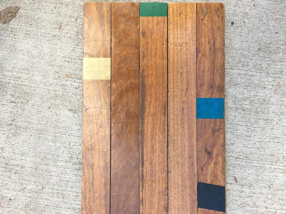 Salvaged Ash +Tallowwood Flooring from North Curl Curl Grammar School Hall, NSW. 60 x 20mm