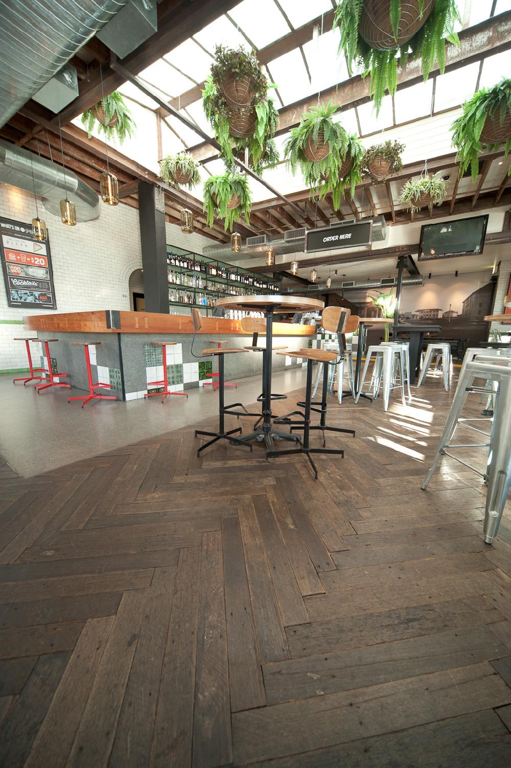 Public Bar, Manuka -Salvaged Flooring