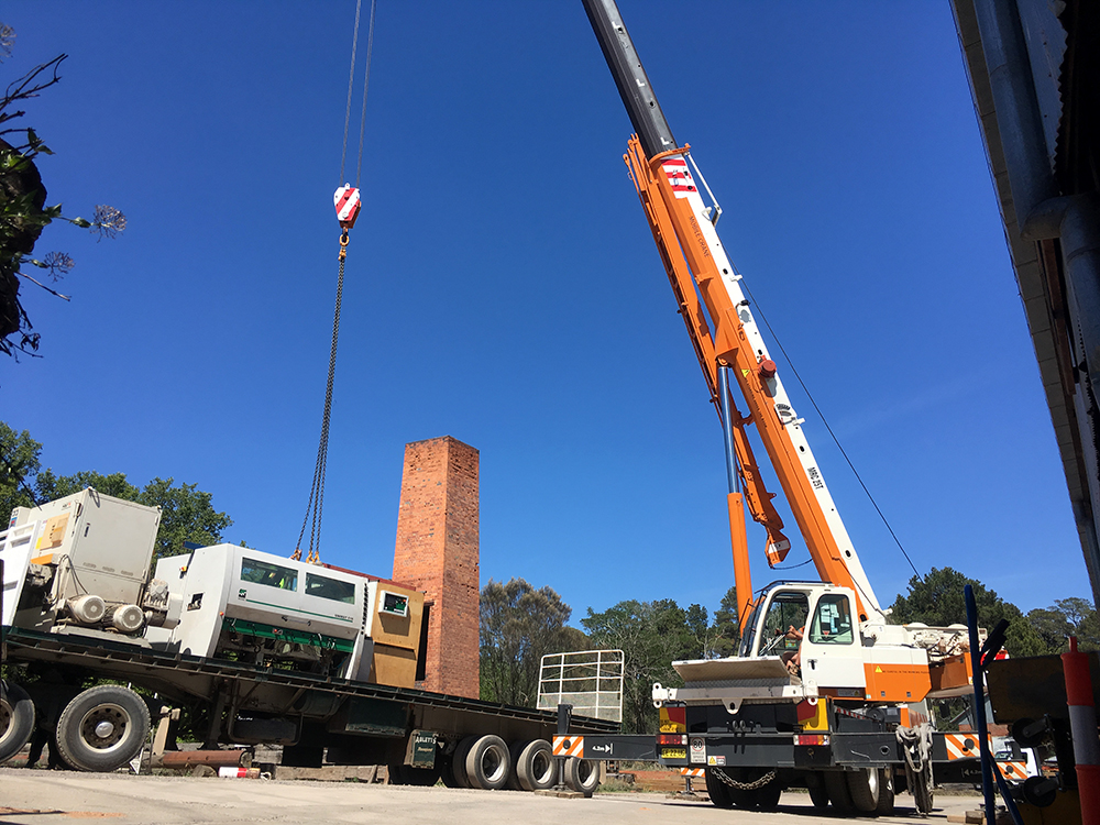 Lots of machines and a chimney loaded up and ready to go!