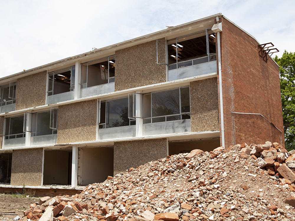 Northbourne Flats partially demolished
