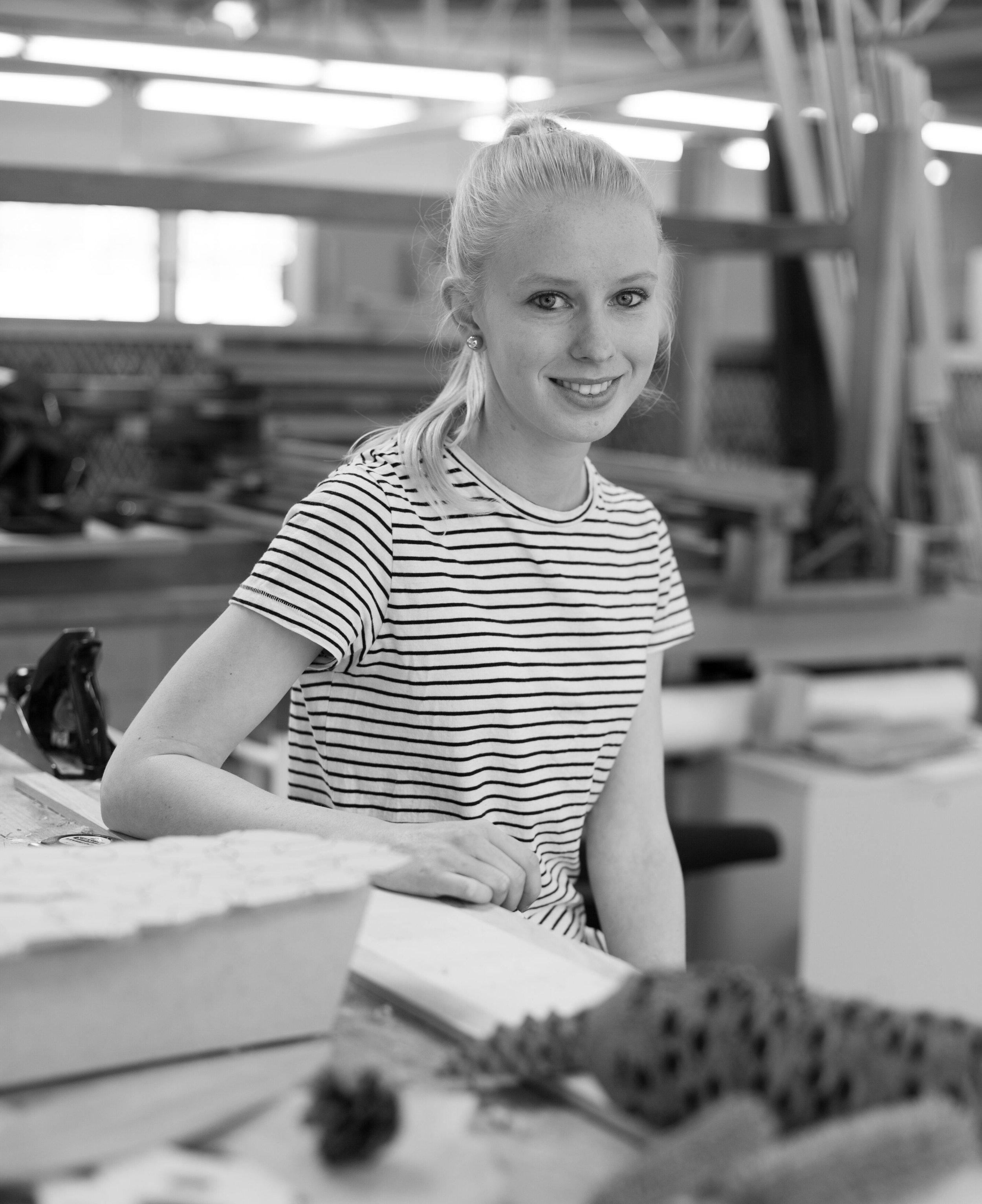 Canberra designer and maker Chelsea Lemon in her studio.