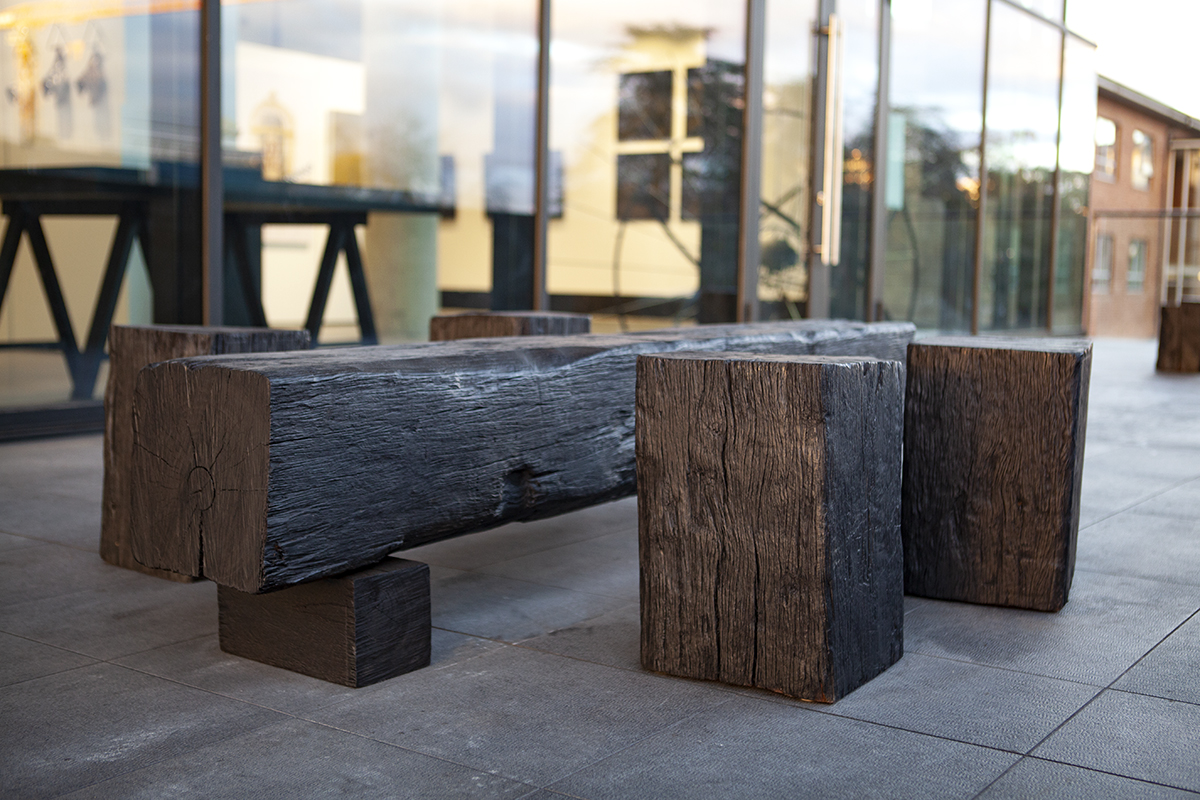 Our black beam seating