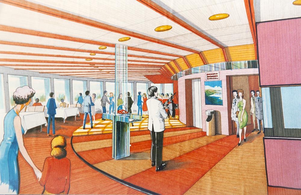 John's design for the Telstra Tower revolving restaurant.