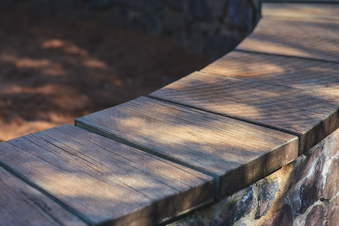 Ironbark develops a lovely grey patina when exposed to the weather.
