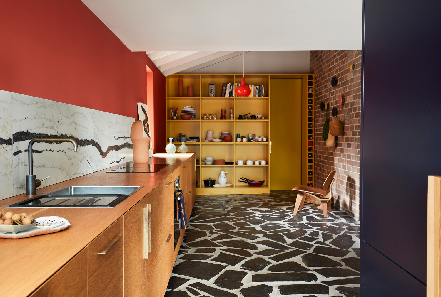 Project: Polychrome House kitchen  Photo credit: Prue Ruscoe