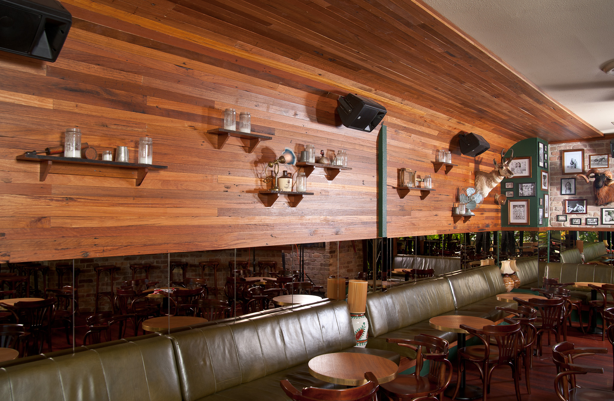 Hippo & Co  in Garema Place- Recycled Blackbutt lining boards