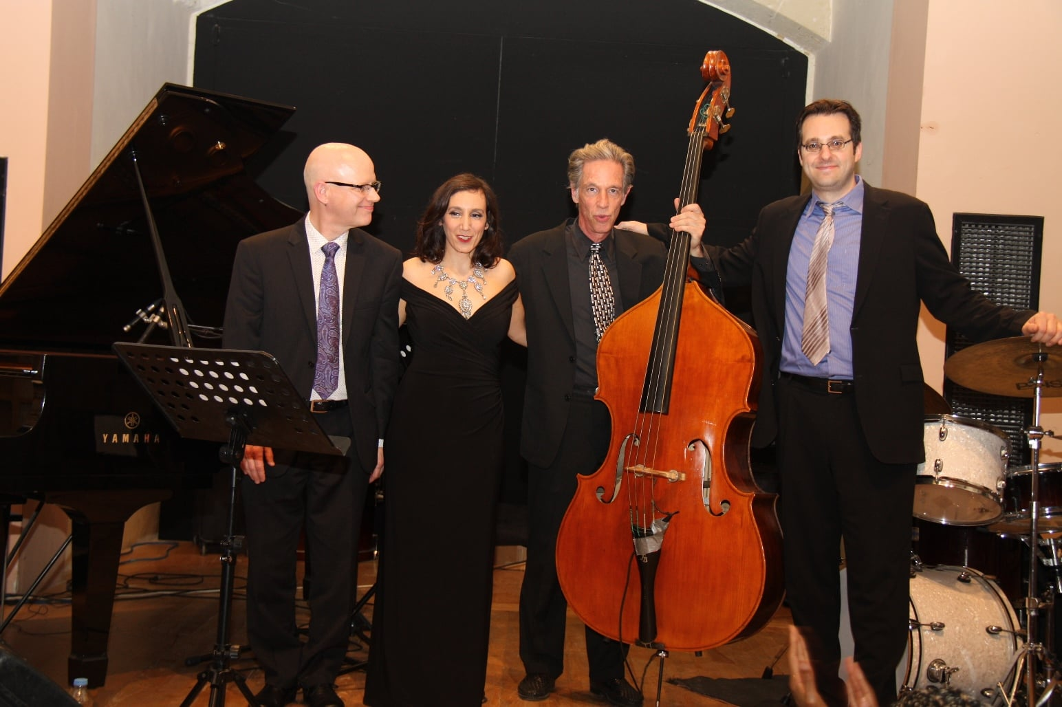 Left to right: Jim Ridl, Gabrielle Stravelli, Pat O'Leary and Jordan Young