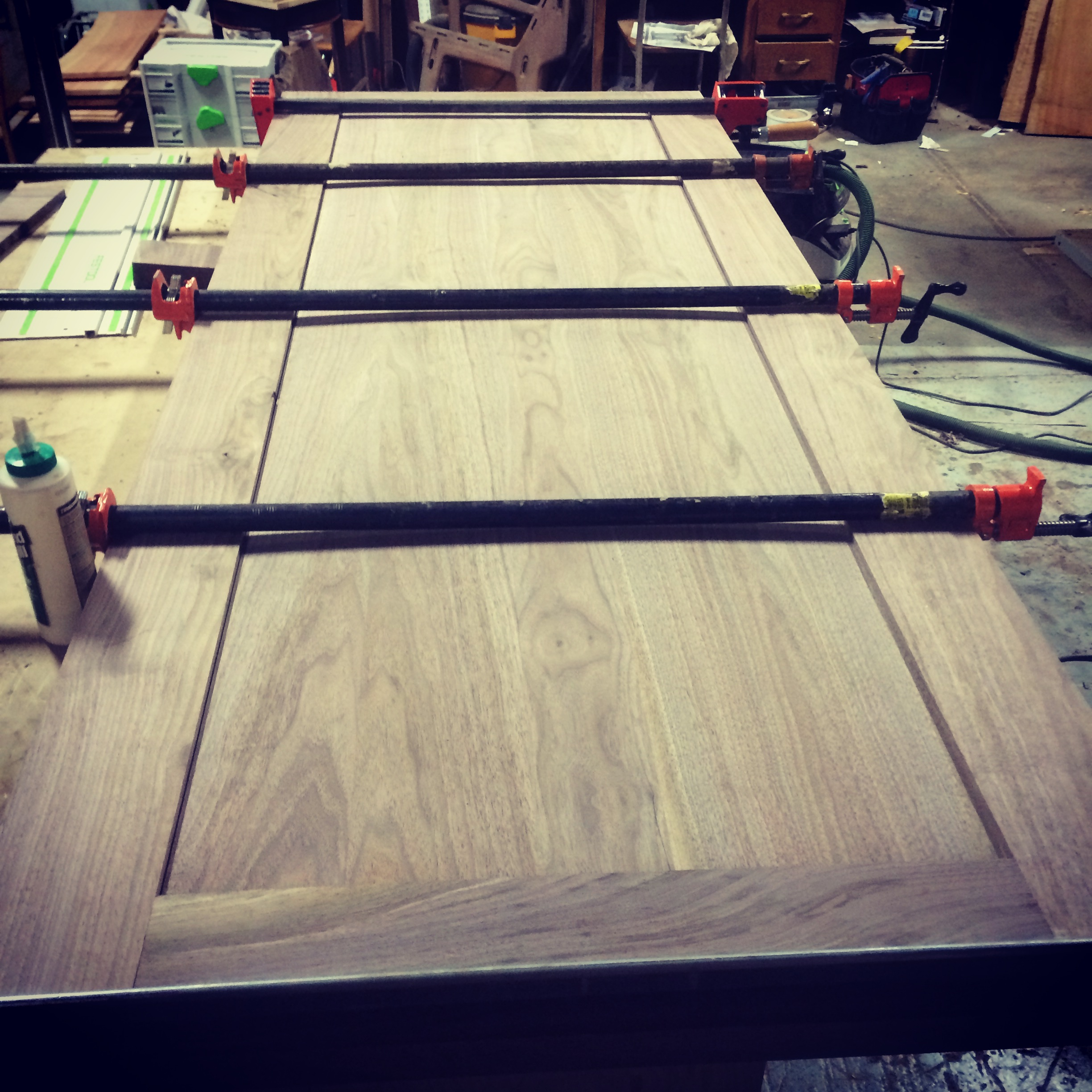 Once everything is resawed, milled down to size, and square we are ready to glue everything together.