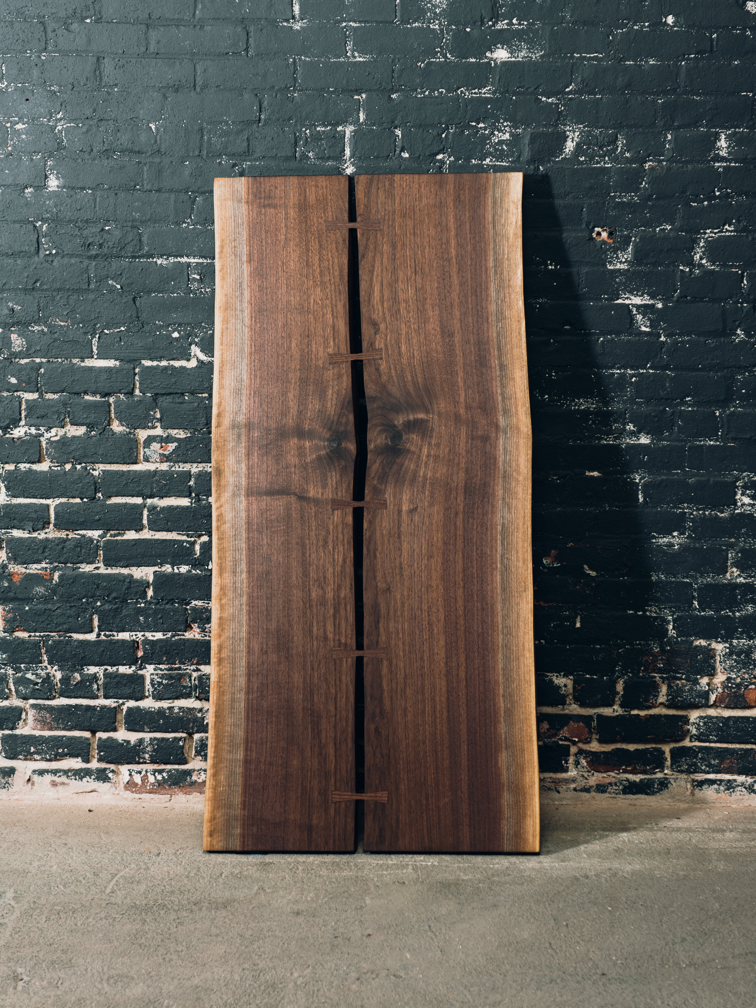 Walnut Pith Table with Bowtie Joints (Sold*)