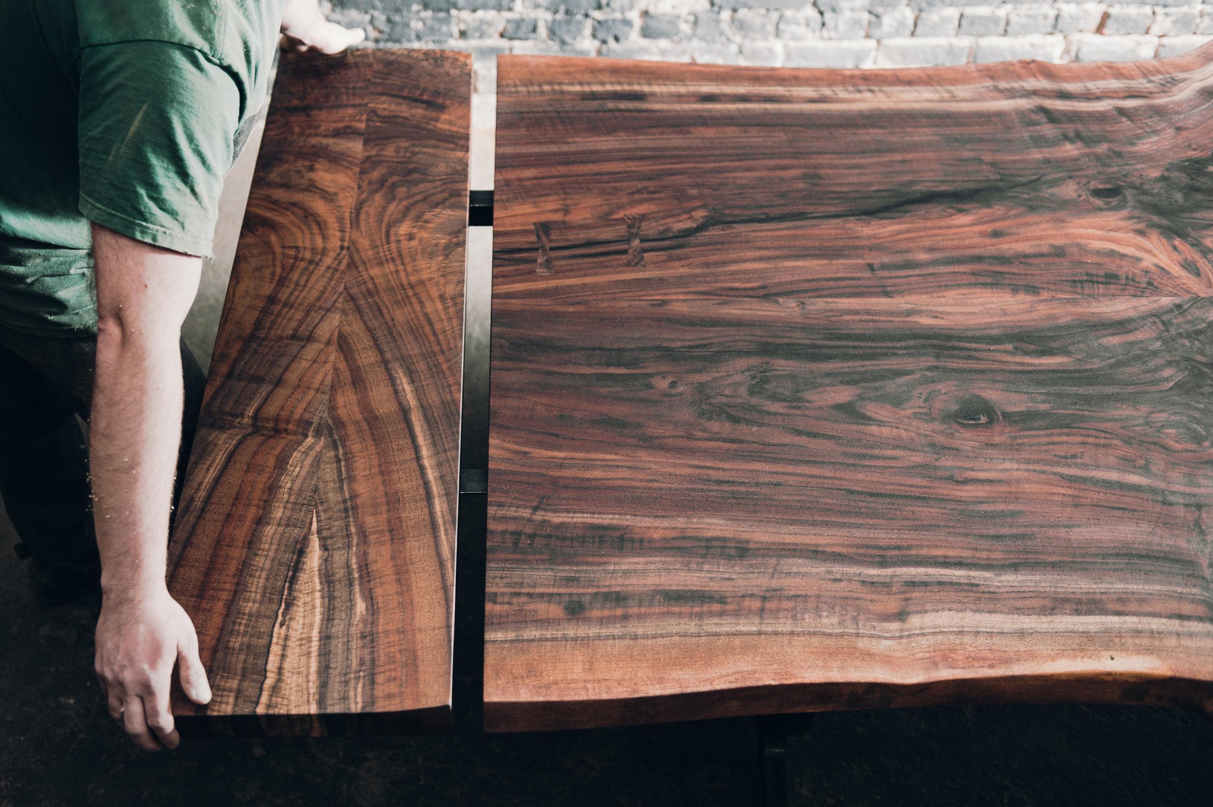 Company board extension in walnut