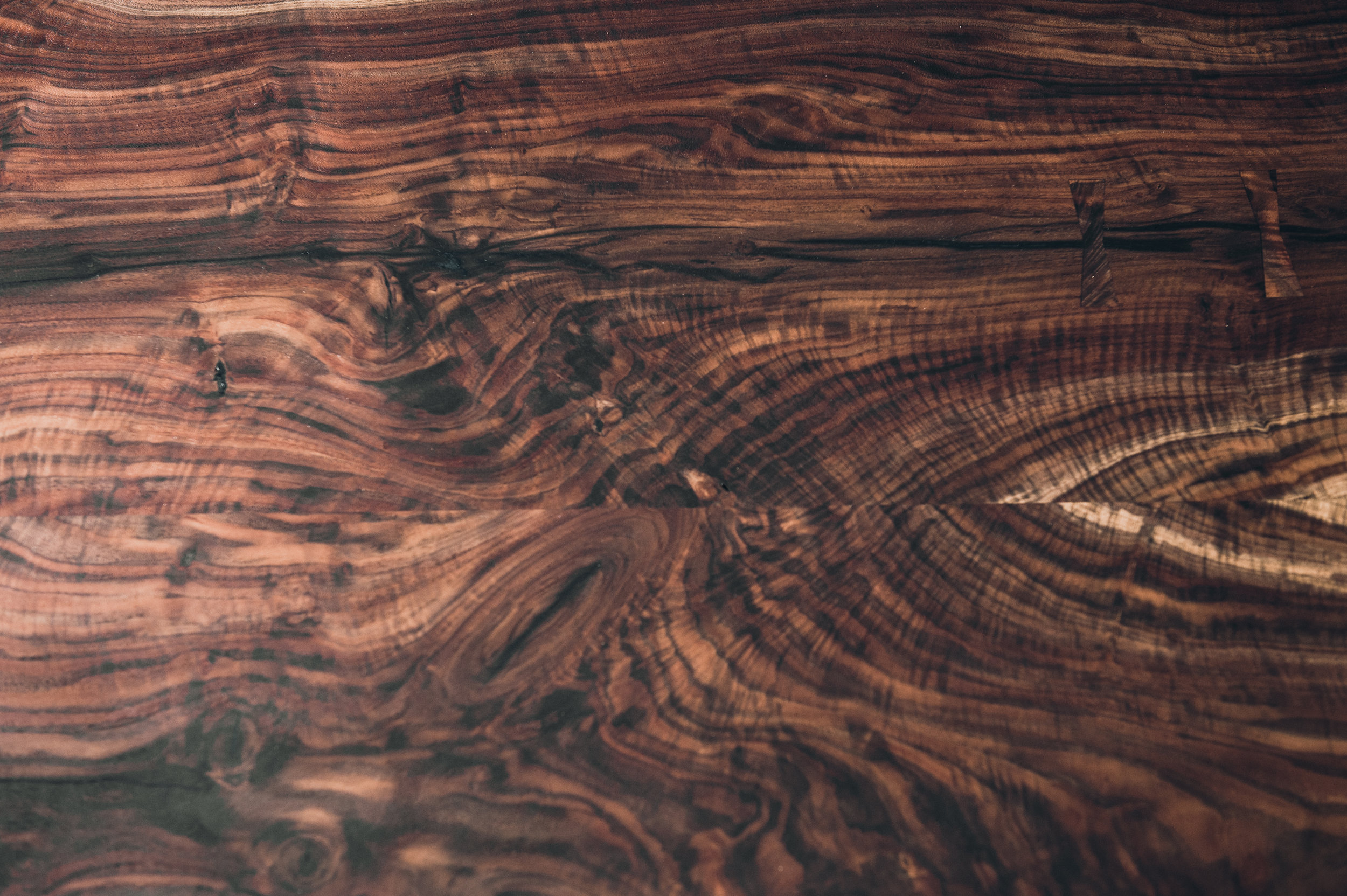 Bookmatched Walnut