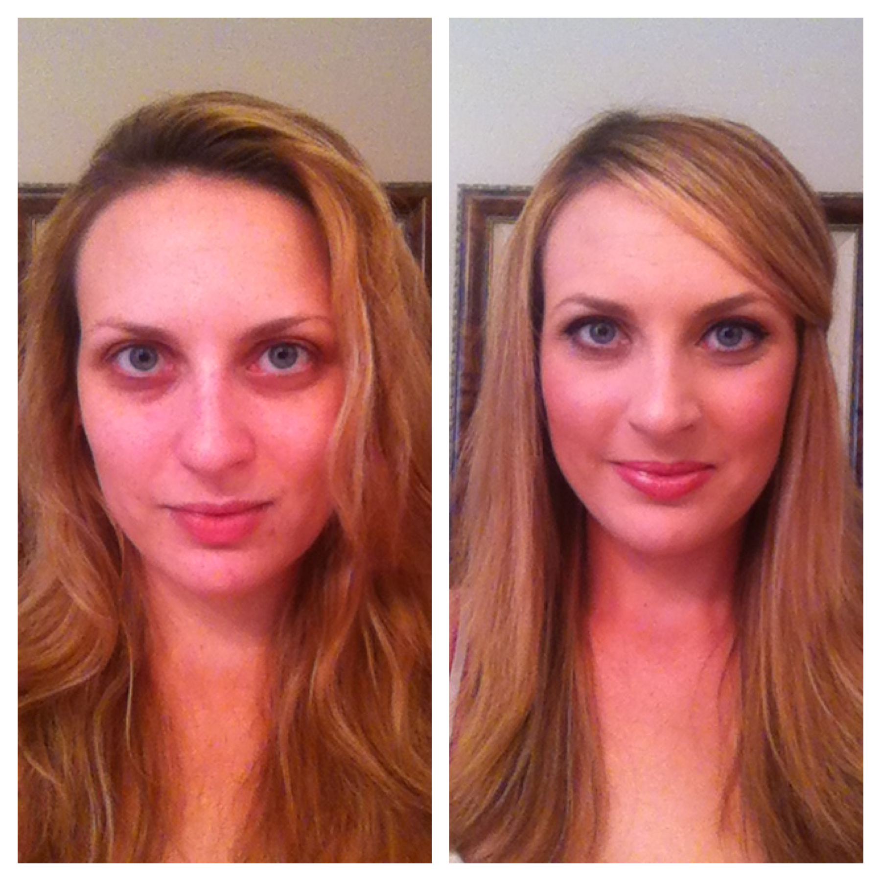 before and after lace cosmetics