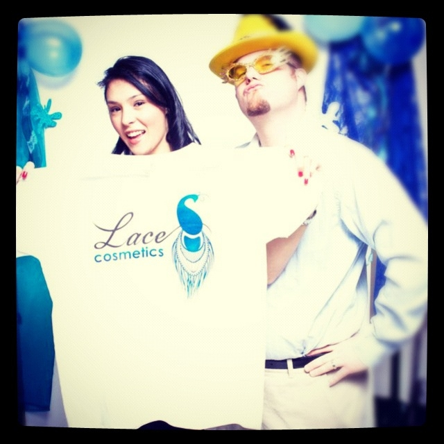 lace cosmetics photo booth