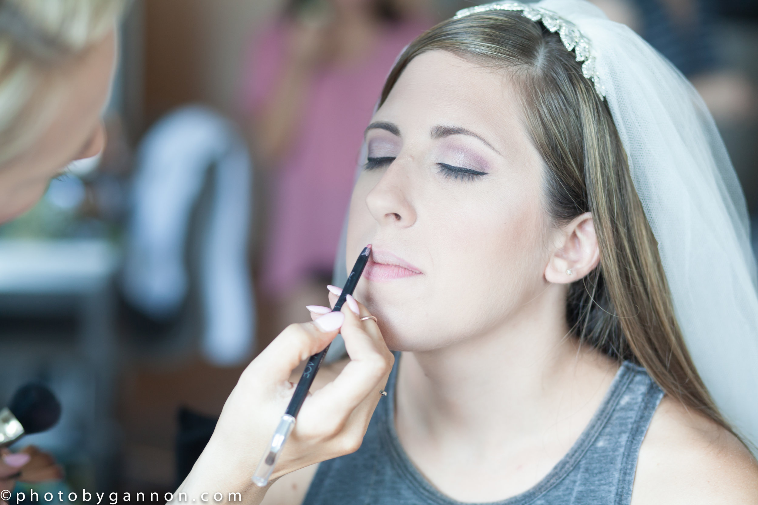 getting ready - makeup application